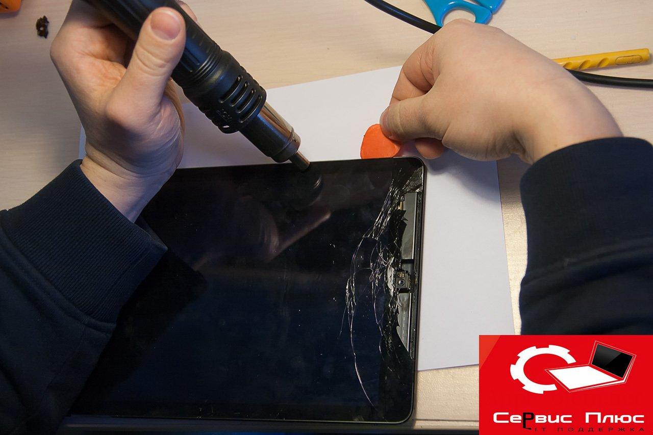 Ремонт замена дисплея на планшете